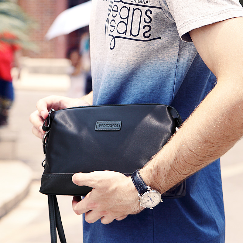 Cheap men's hand bag nylon with leather fashion multifunction small hand envelope clutch bag phone purse card package