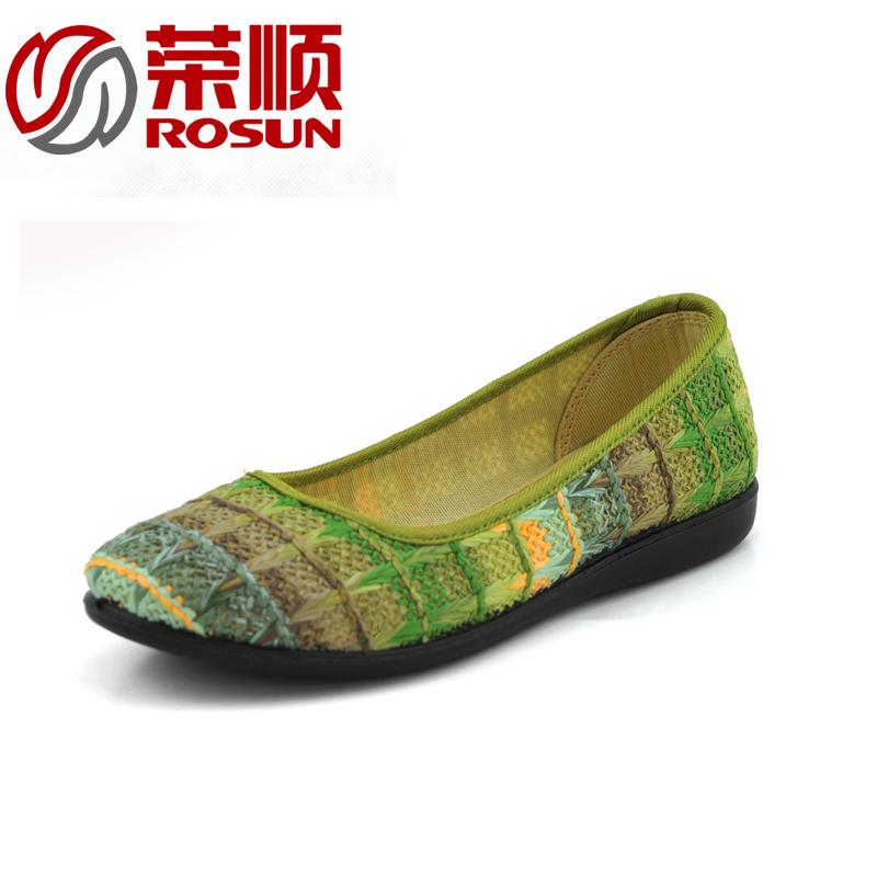 Cheap old beijing shoes shoes mesh shoes summer breathable knit bottom mom slip soft bottom flat shoes driving shoes