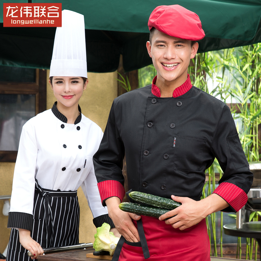 Chef clothing long sleeve chef service hotel chef uniforms fall and winter hotel restaurant chef uniforms chef service