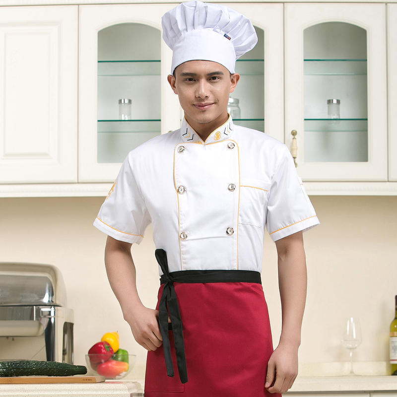 Chef service men and women short sleeve chef service hotel chef uniforms chef service hotel chef restaurant chef uniforms chef clothing summer