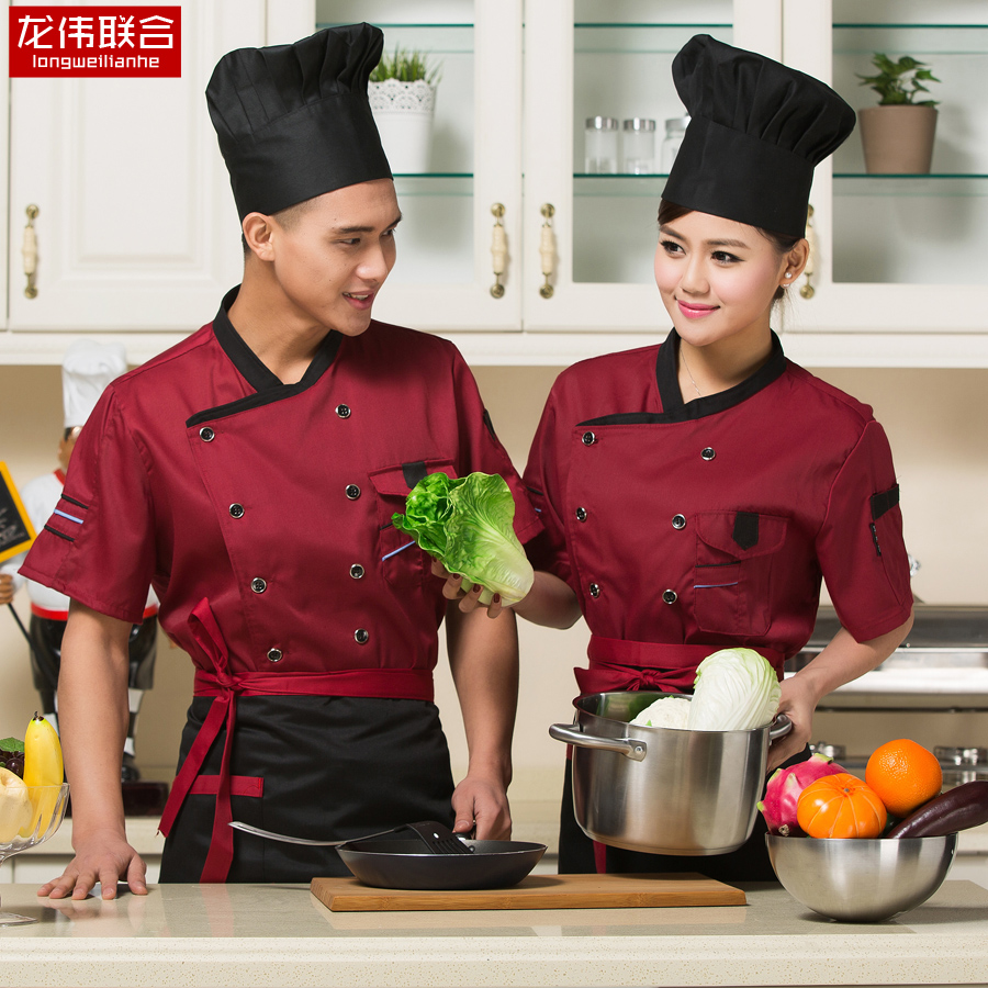 Chef uniforms chef service hotel chef uniforms chef uniforms chef clothing short sleeve summer clothes chef clothing chef service hotel chef uniforms