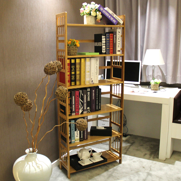 Chen yi gifted bamboo bookcase bookcase simple multilayer storage rack floor shelf bookcase bookcase student children