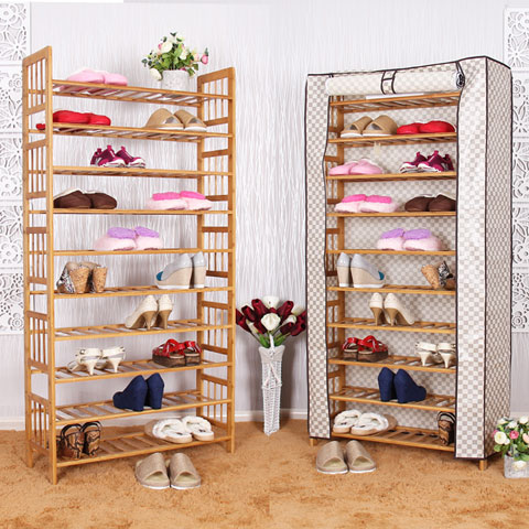 Chen yi gifted bamboo multilayer shoe shoe shoe minimalist modern economy wood dust shoe rack shoe collection carolina specials