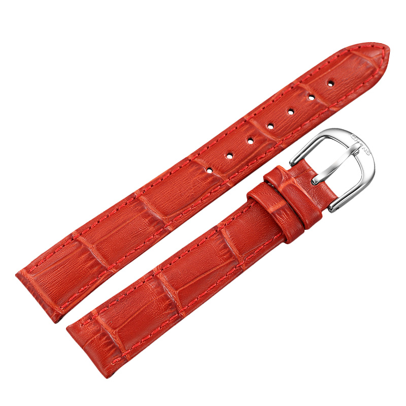 Chens handed sagittarius female calf strap watches belt table ladies watches leather belt pin buckle belt 16mm