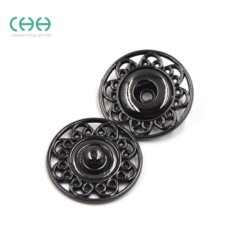 Chh boutique clothing metal buttons invisible dark button snaps snaps lift button snap button coat buttons yikou