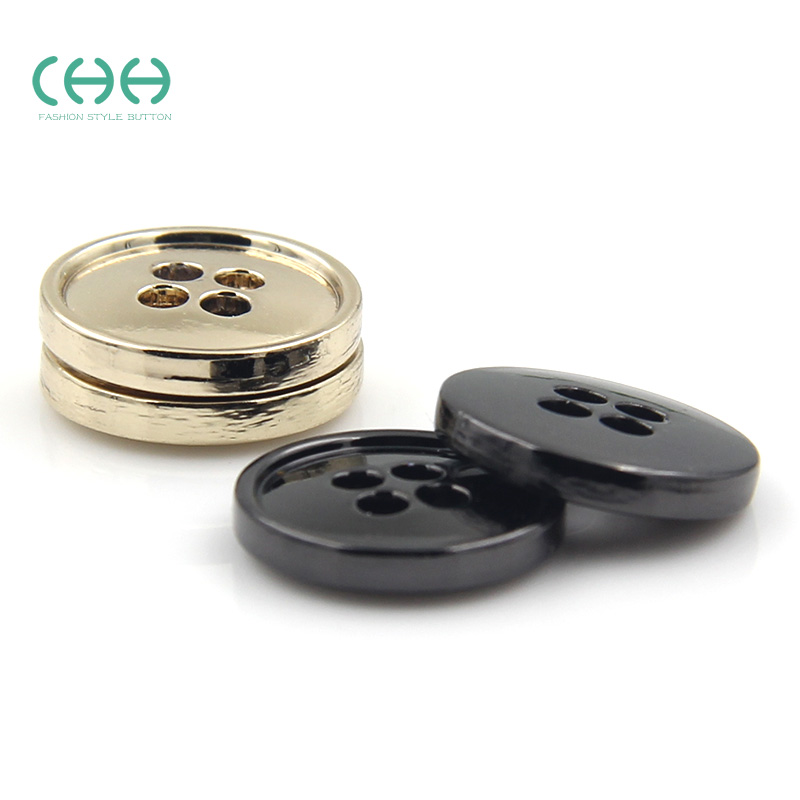 Chh clothing buttons buttoned clothing accessories 11mm four thin edge metal buckle shirt button cardigan shirt buttons