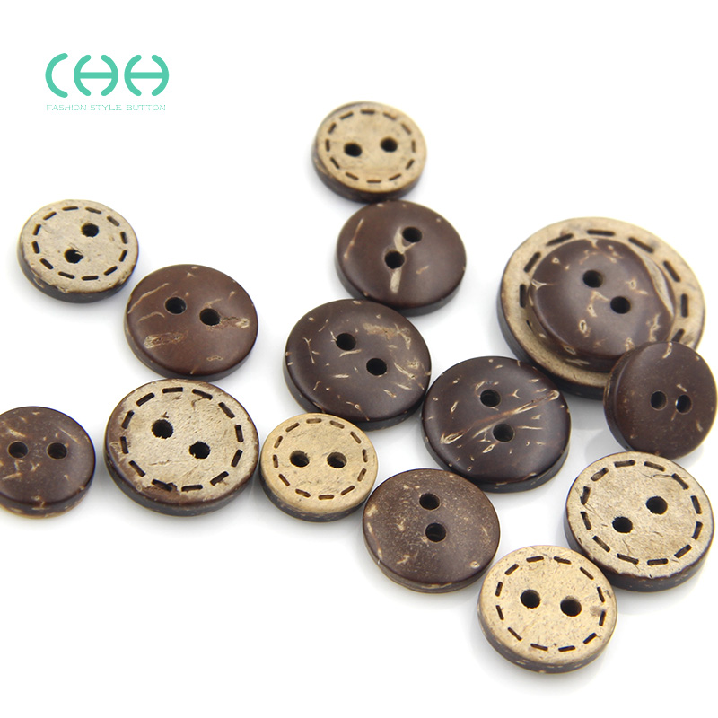 Chh clothing virtual edge coconut natural coconut shell buttons buttoned two children buckle shirt button shirt buttons women