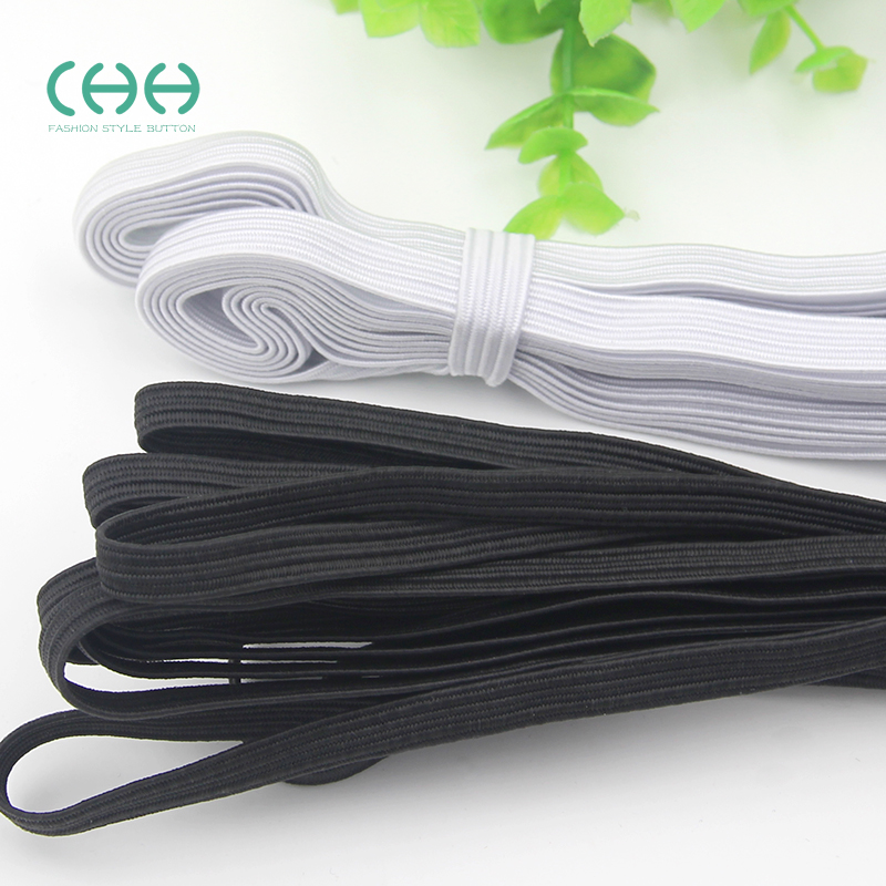 Chh thin elastic soft elastic band black white single superior quality garment accessories elastic band 7mm wide rubber band