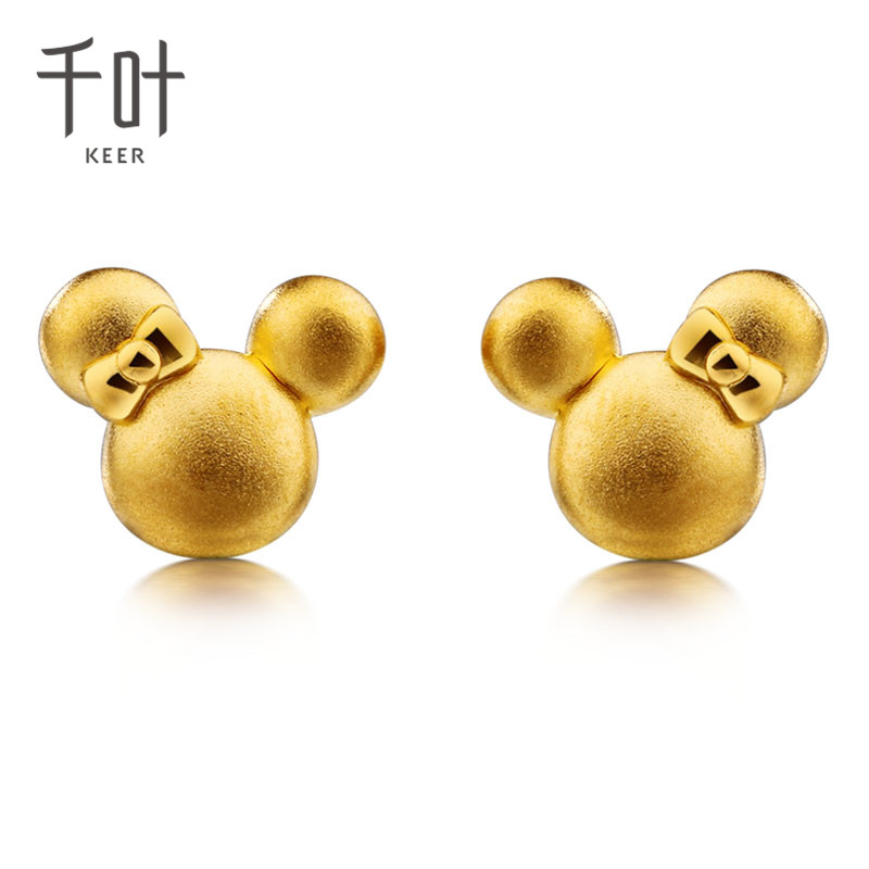 Chiba keer and rhizomic series of small mickey jewelry gold earrings gold earrings jewelry
