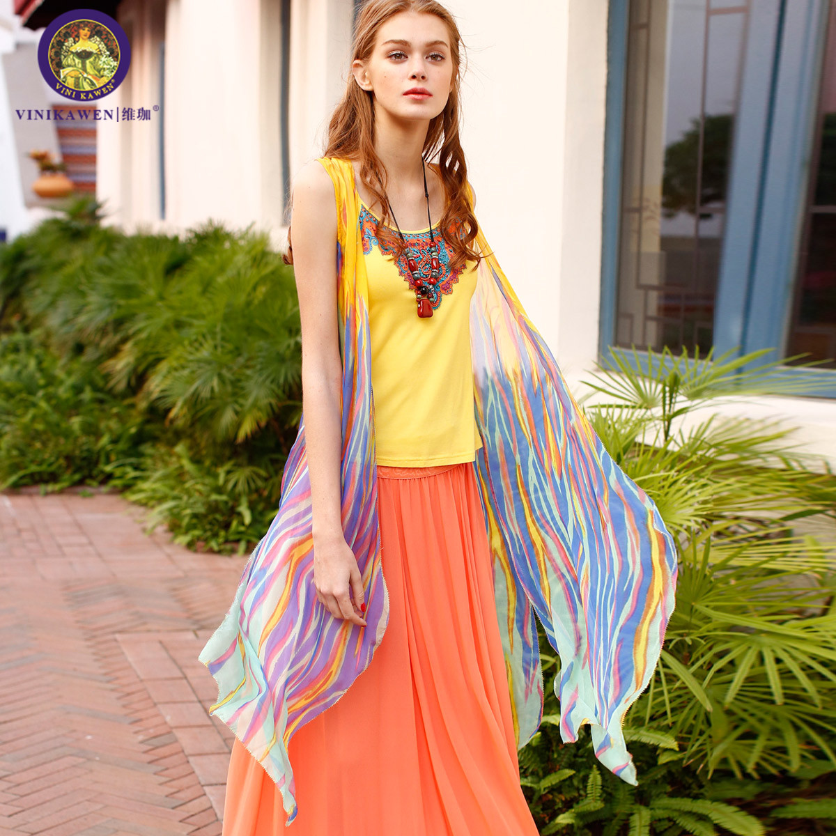 cc1620ee38daa Get Quotations · Chiffon shirt thin cardigan female long section of  bohemian gradient silk silk shawl cardigan beach sun