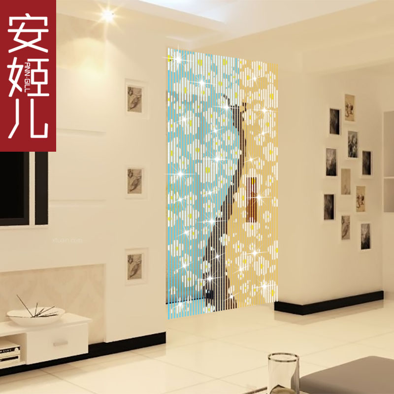 Children crystal ann suu kyi composea tree portieres china wind living room entrance off crystal bead curtain off the creative portieres