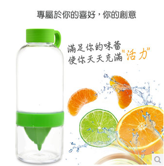 Children cup trumpet portable manual juicer fruit cup lemon juice cup with straw creative and practical gift for halloween