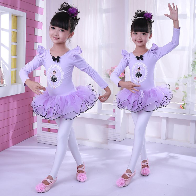 Children dance clothing dance ballet skirt girls dance clothes combed cotton ethnic skirts fall and winter clothes and costumes china