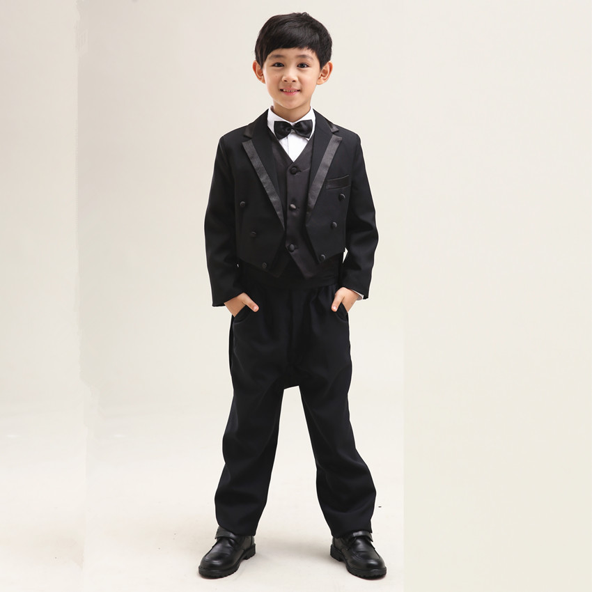 Children dress suits tuxedo boy suit flower girl dress suit wedding suit piano out fall and winter clothes