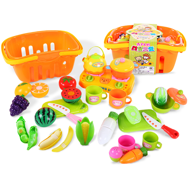 Children play house toys earnest music cut fruit fruits and vegetables honestly honestly look suits baby thanmonolingualsat years