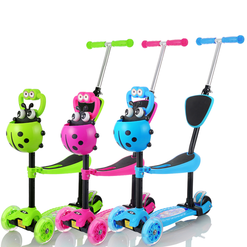 Children scooter scooters triple baby can sit walker slippery car scooter three wheel scooter swing car