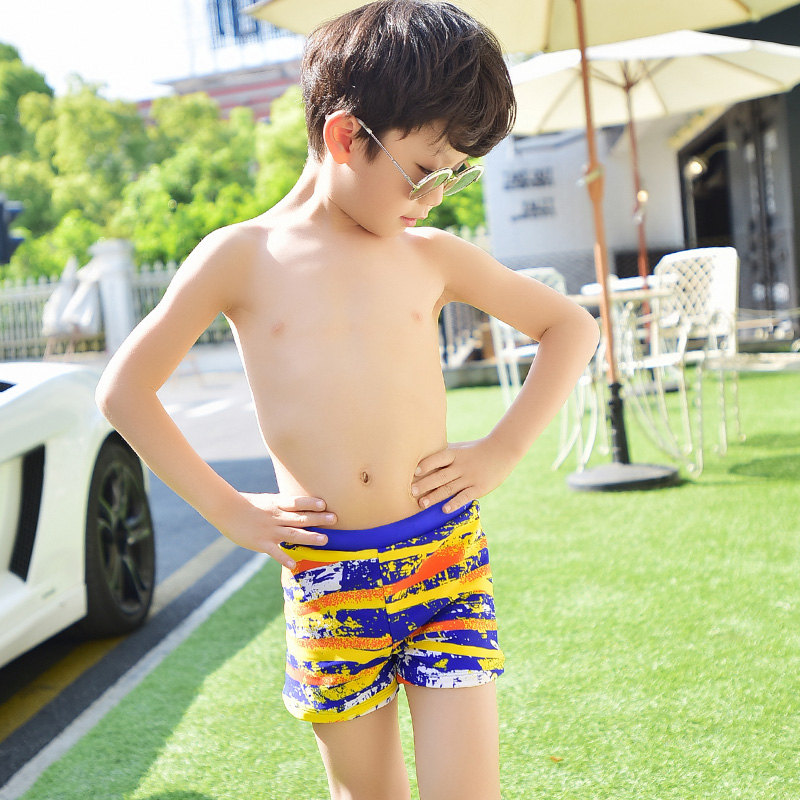 é¢æ…§children swimming trunks children's little boy pants baby boy big boy child cute cartoon swimming trunks beach clothing