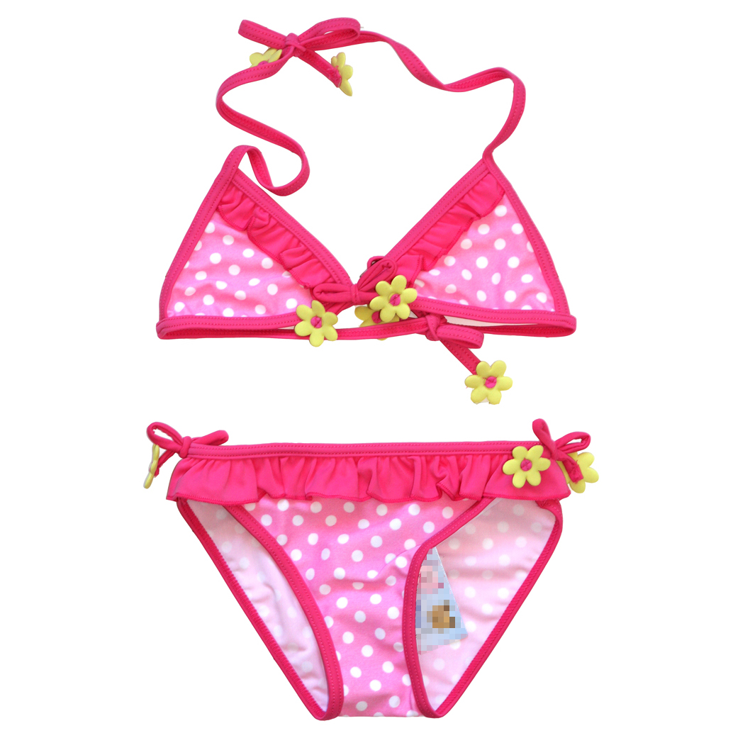 Children swimsuit female baby girls split swimsuit swimsuit cute baby girls bikini swimsuit hot springs