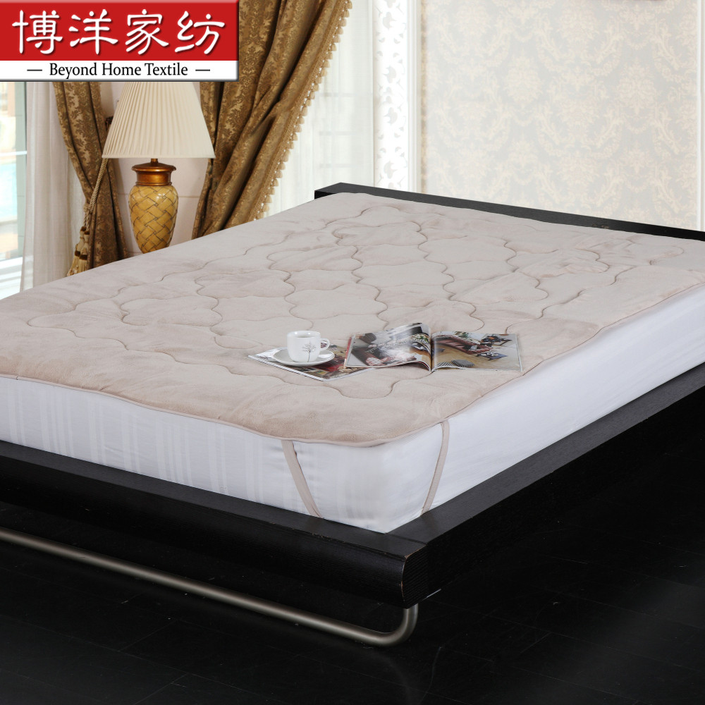 Children's bedding bo yang bo yang textile gosklno shu warm coral fleece mattress mattress single or double warm
