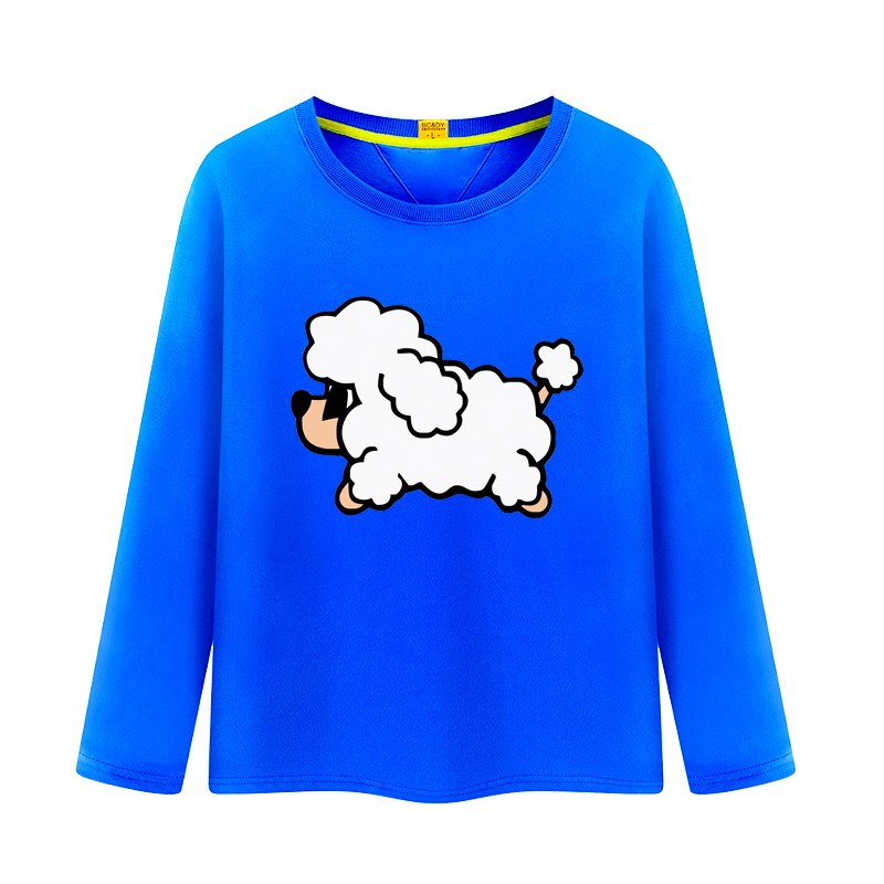 Children's cartoon big virgin girls spring and autumn long sleeve t-shirt tide korean version of cotton round neck t-shirt primer shirt men