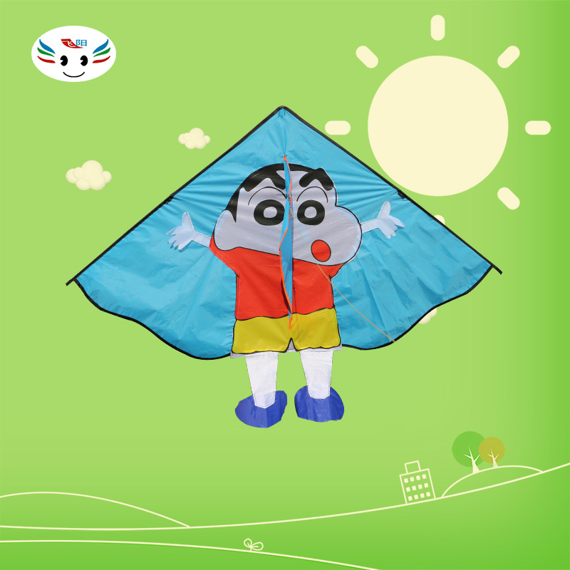 Children's cartoon weifang kite kite triangle breeze easy to fly a kite cute crayon simple to install