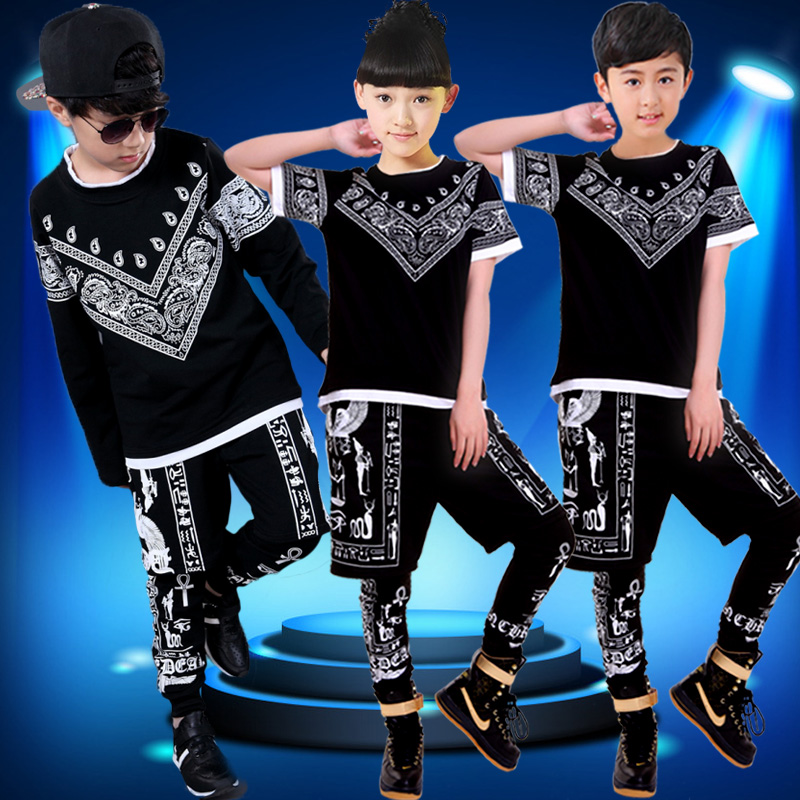 Children's costumes children's hip-hop hiphop hip hop jazz dance hip-hop dance performance clothing for boys and young children dance clothes