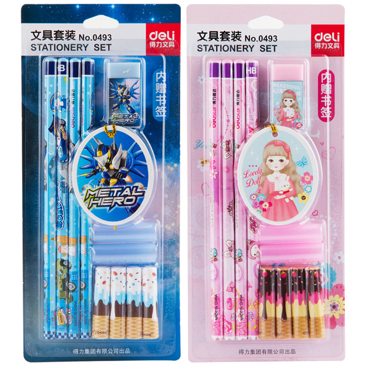 Children's day gift deli 0493 creative student learning stationery gift gift set combination packs