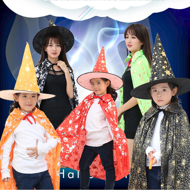 Children's halloween cloak cloak adult halloween ghost costume party hat hat man