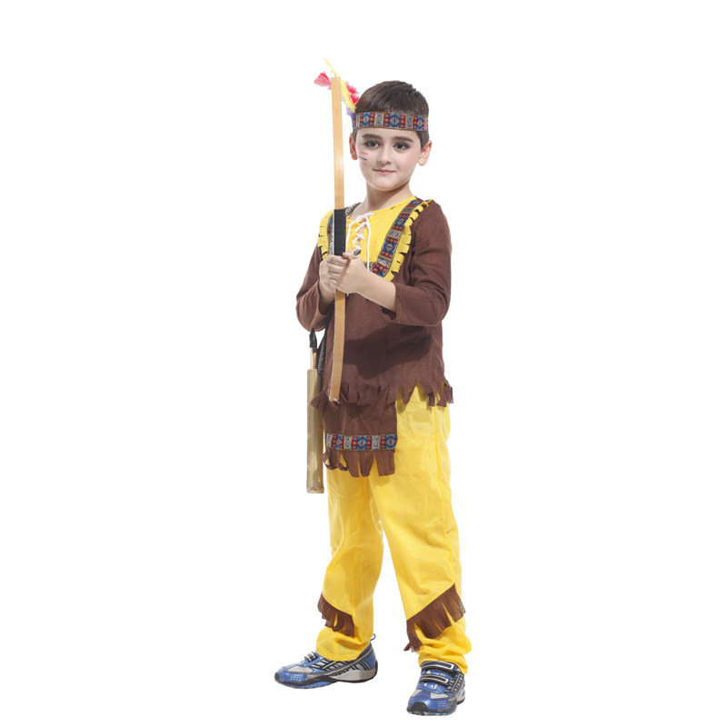 Children's halloween costume cosplay costume indigenous indian soldiers performing service