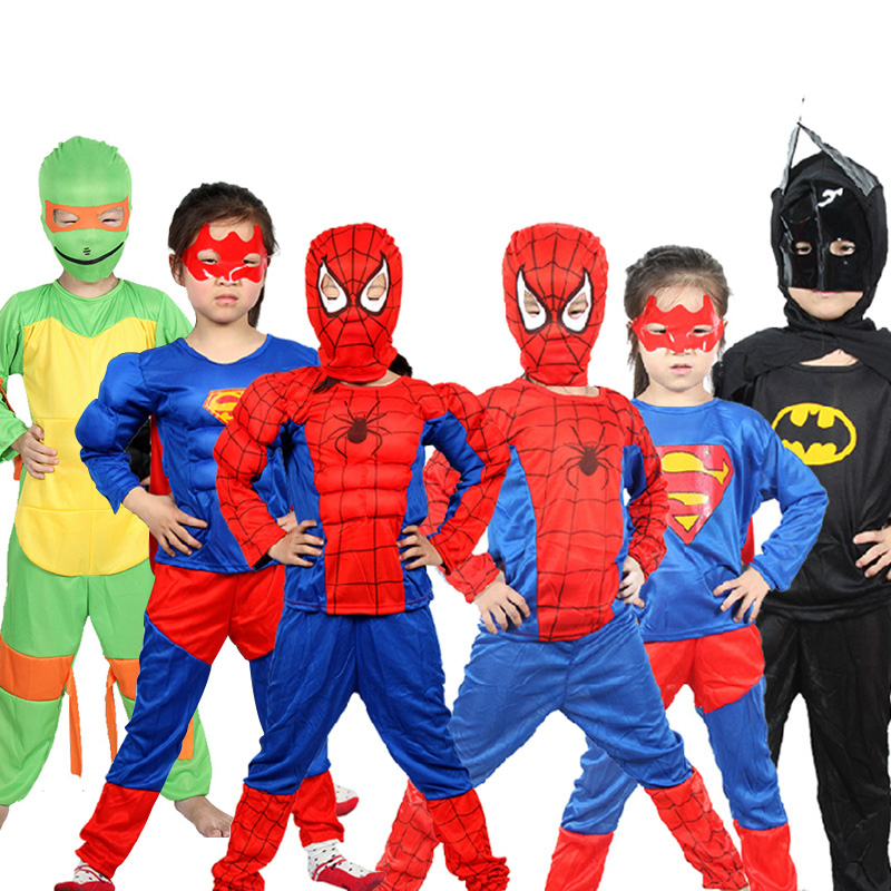 Children's halloween costume costumes spiderman spiderman tights children teenage mutant ninja turtles batman suit of clothes