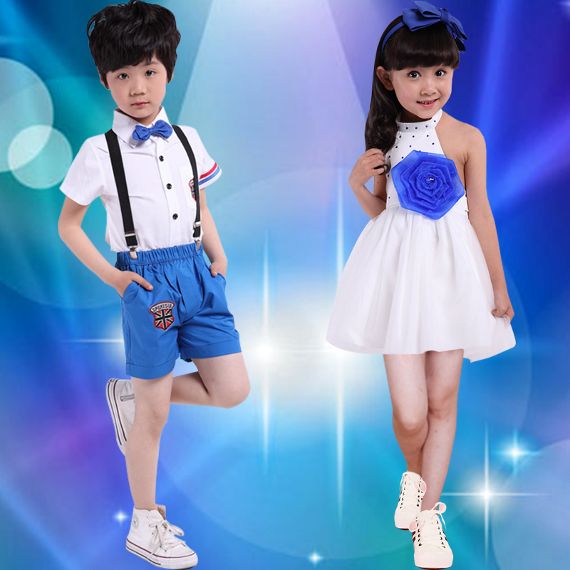 Children's jazz dance costumes for boys and girls sequined dance costumes suit performance clothing hip-hop clothing infant nursery