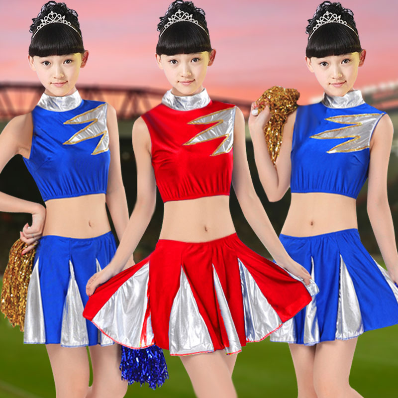 Children's performance clothing dance costumes female sequined cheerleading cheerleading performance clothing children dance skirt girls