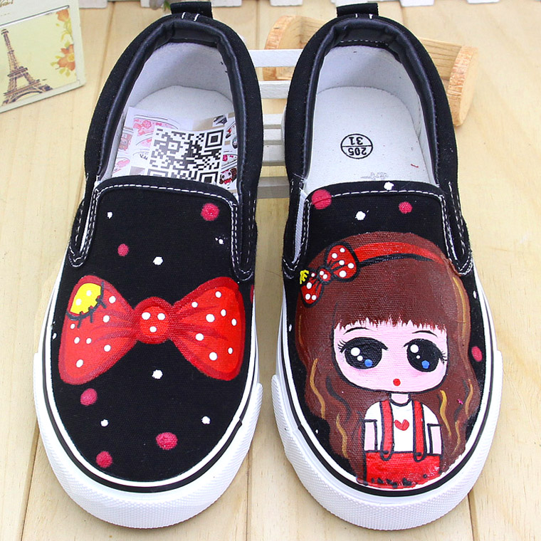 Children's shoes canvas shoes loafers shoes girls summer autumn korean version of the sports shoes princess shoes foot shoes shoes