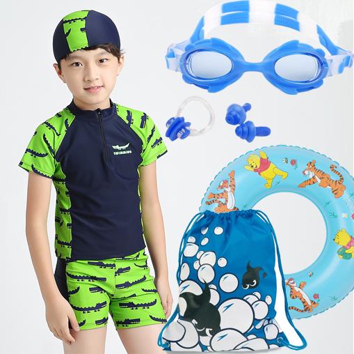 67c8a6a261 Get Quotations · Children's swimwear swimsuit split sunscreen swimsuit  children zhongshan university boys treasure treasure child boxer swim trunks
