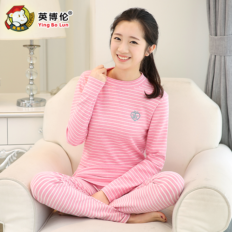 Get Quotations · Children's underwear qiuyi suit female cotton autumn and  winter thermal underwear autumn clothes for girls big