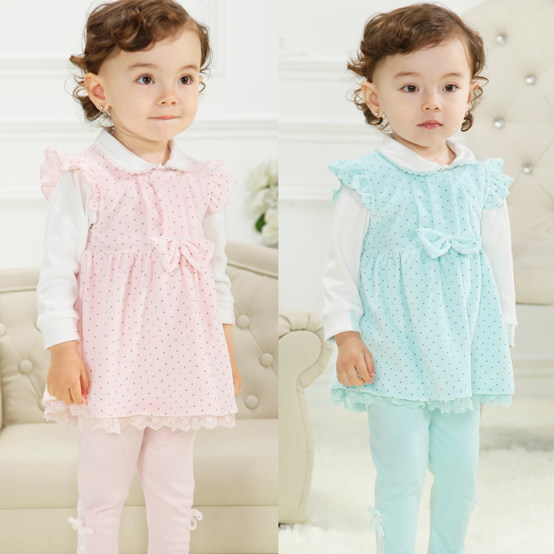 Childrenwear months 1-2-year-old 0-1-year-old infant clothing baby clothes female baby parure baby clothes autumn Dress