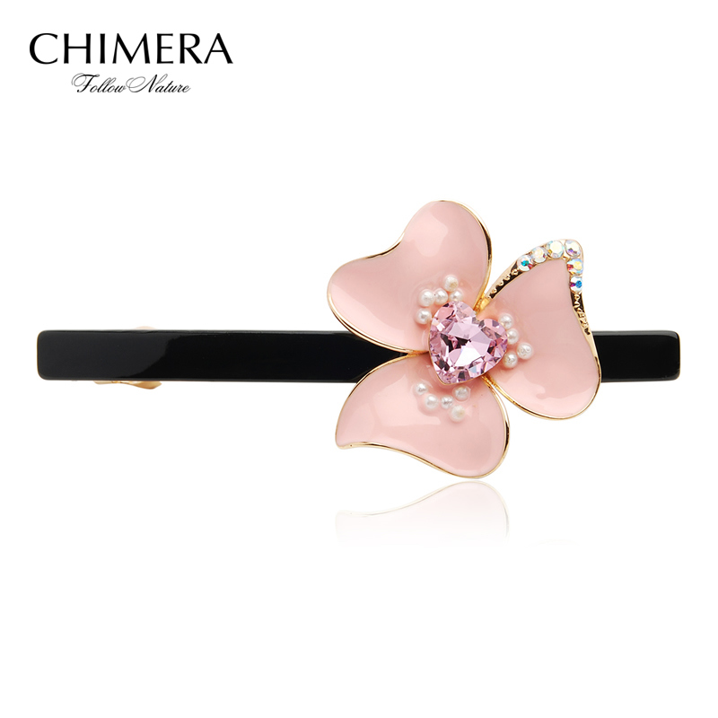 Get Quotations · Chimera Lit Summer Fresh Pink Flowers Spring Clip Top Clip  Hair Accessories Dish Made Hairpin