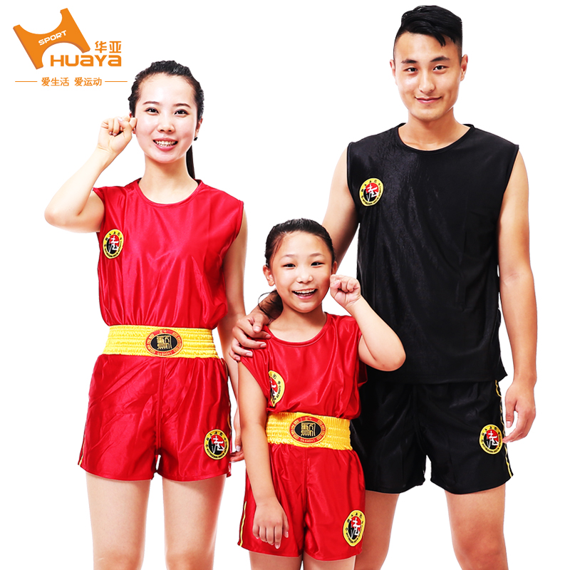 China and asia adult children of men and women clothing sanda sanda shorts muay thai boxing martial arts clothing/performance/embroidery training suit models shipping