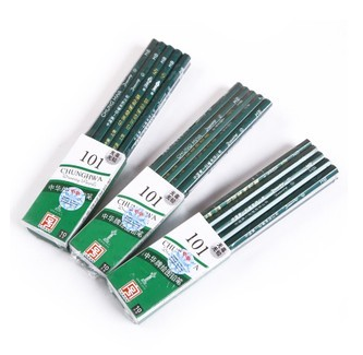 China zhonghua pencil 101 h hb 2b pencil sketch pencil drawing pencil exam student stationery pen