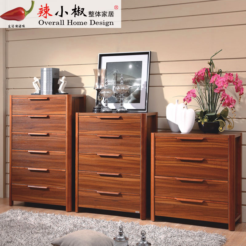 Chinese modern minimalist wood chest of drawers four five six doo doo cabinet storage cabinet cabinet drawer cabinet combination of special