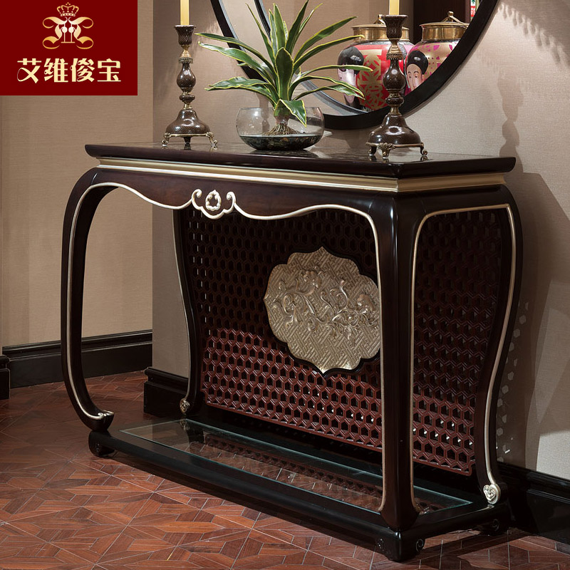 Get Quotations · Chinese Wood Foyer Entrance Vestibule Continental  Furniture Decorative Wall Table New Chinese Text Of Article Factory