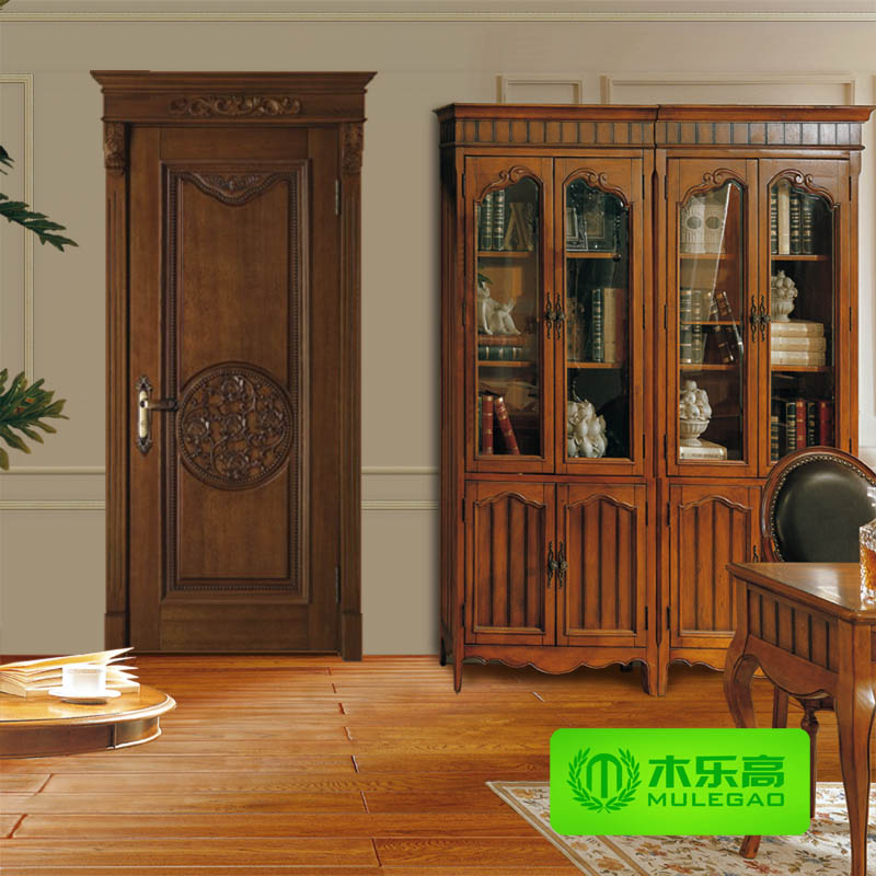 ◆ Chinese wooden door wooden doors solid wood doors wood doors suite door open paint wood room door