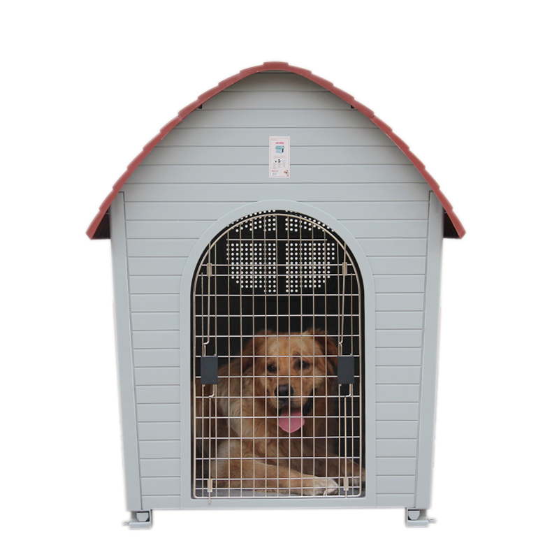 Chong yi villa waterproof outdoor dog house pet dog house dog kennel cages plastic goldens child outdoor dog kennel supplies