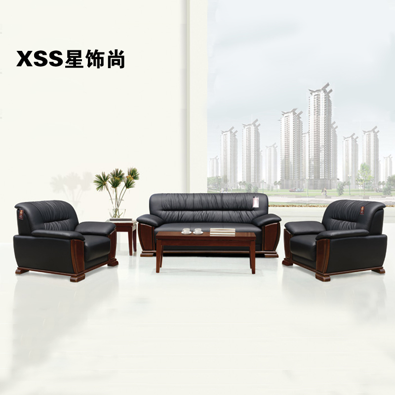 Chongqing office sofa single double solid wood 3 1 + 1 + 3 combination of office office sofa factory outlets