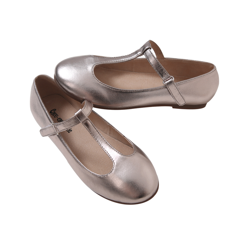 3b63c07798b2 Chouchou chic pale gold thong shoes shallow mouth shoes girls 2016 spring  new handmade shoes
