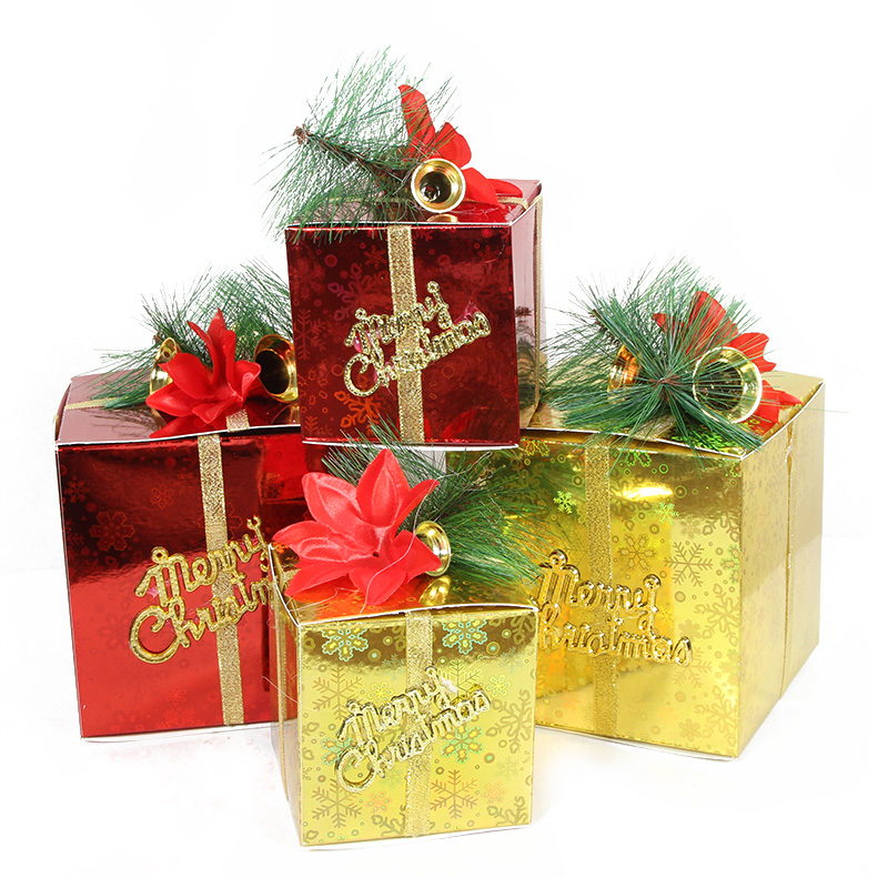 get quotations christmas decorations 10cm 12cm 15cm paper gift boxes arranged christmas lightchristmas gift