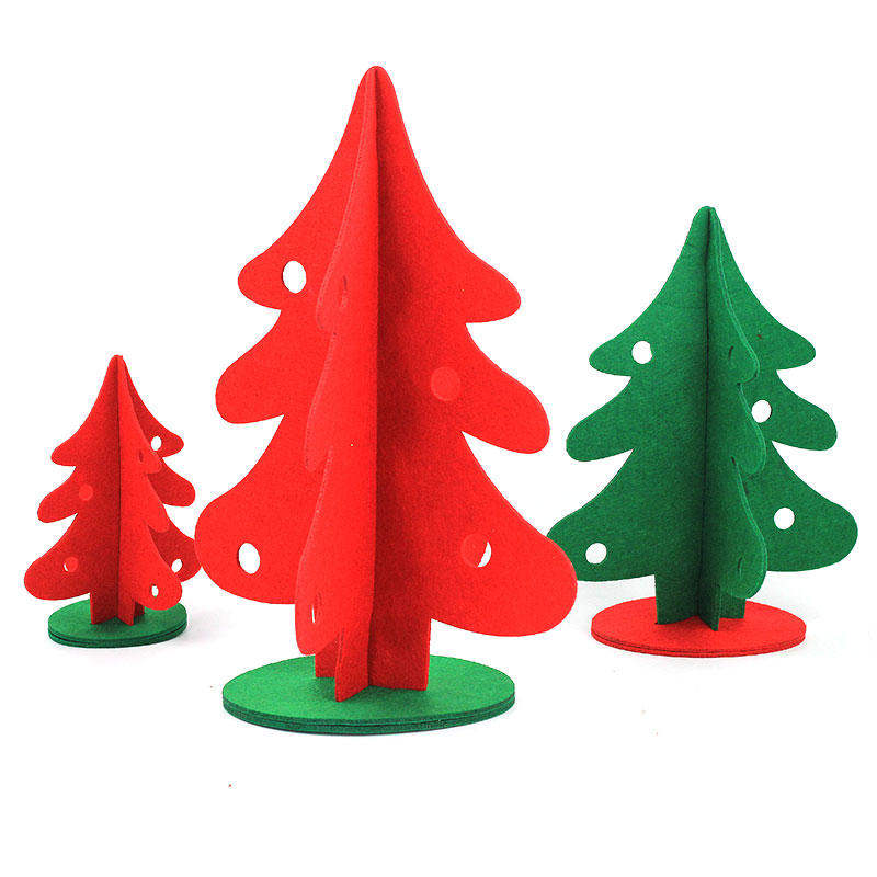 Christmas decorations christmas red and green stereo wovens tabletop christmas tree christmas tree decorations ornaments