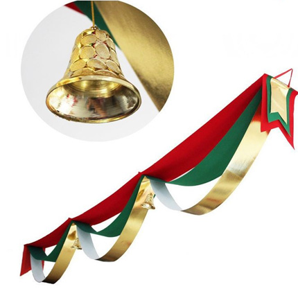 Christmas decorations christmas waves flag hanging flags banners bunting holiday hotel bar mall supermarket roof layout props
