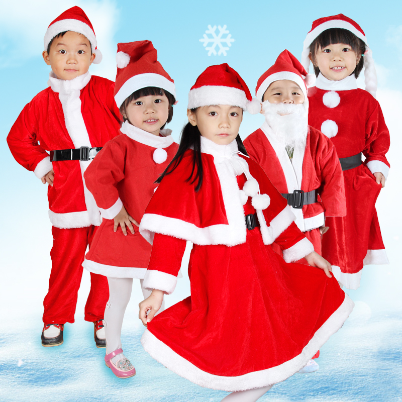 Christmas santa claus costume christmas costume play clothes for men and women performing the elderly and children costumes christmas clothing suits for men and women section