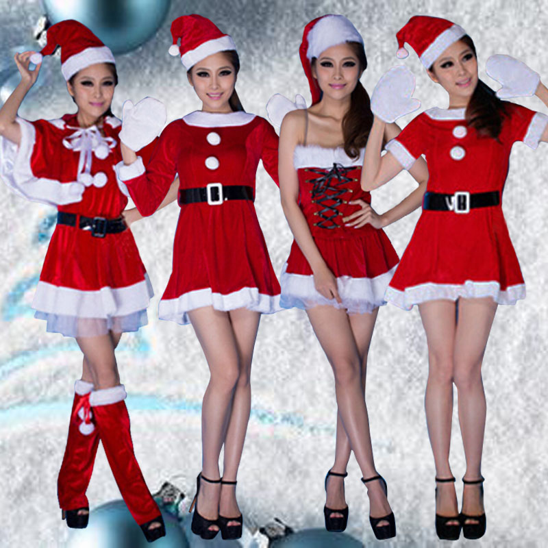 Christmas santa claus costume/costume party/christmas dress christmas santa claus christmas dress christmas dress